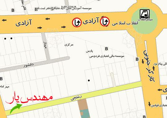 adres افتتاح دفتر مرکزی مهندس یار در شهر تهران