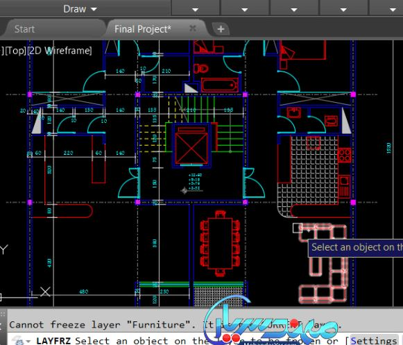 نقشه کشی ساختمان در اتوکد